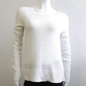 AmericanEagleOutfitters ivory woven sheer sweater